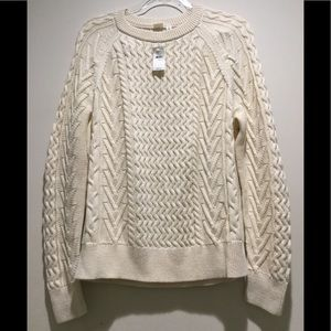 GAP-cable knit crew neck sweater-Size XL